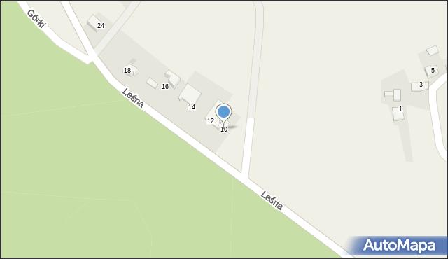 Las, Leśna, 10, mapa Las