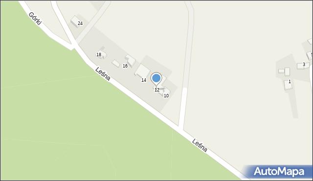 Las, Leśna, 12, mapa Las