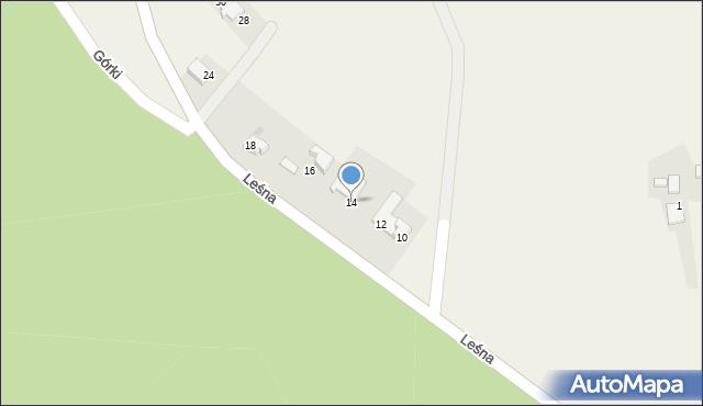 Las, Leśna, 14, mapa Las