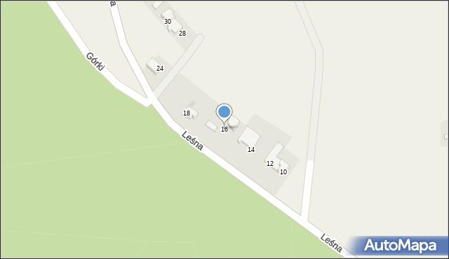 Las, Leśna, 16, mapa Las