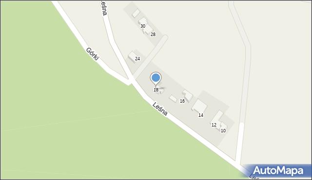 Las, Leśna, 18, mapa Las