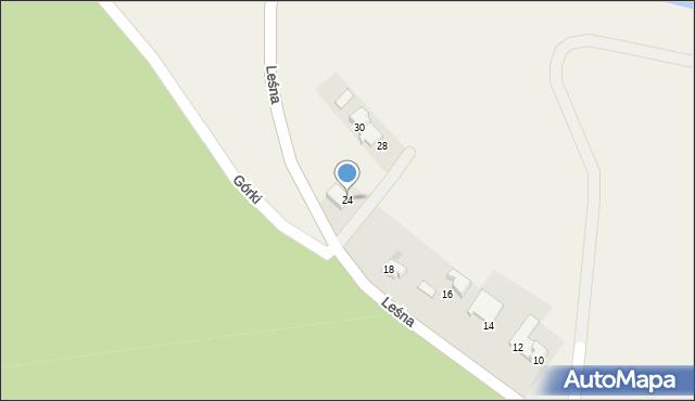 Las, Leśna, 24, mapa Las