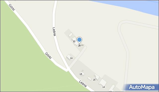 Las, Leśna, 28, mapa Las