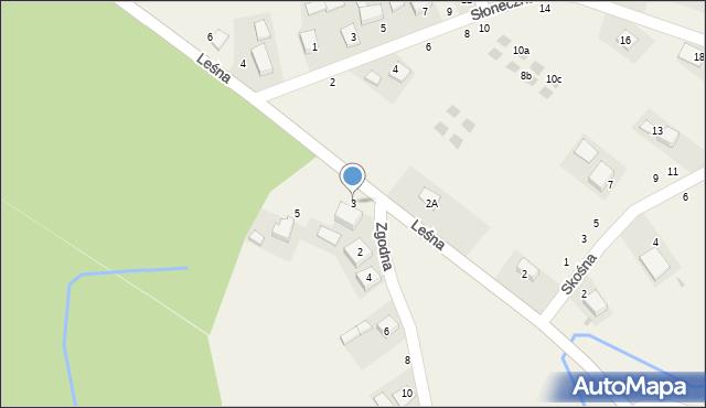 Las, Leśna, 3, mapa Las