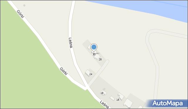 Las, Leśna, 30, mapa Las