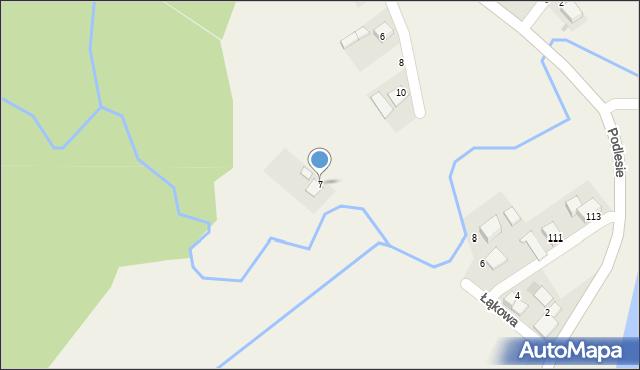 Las, Leśna, 7, mapa Las