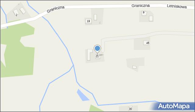 Łowiczki, Letniskowa, 21, mapa Łowiczki