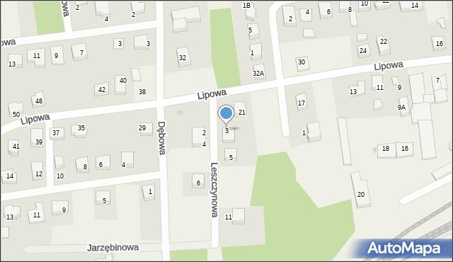 Luzino, Leszczynowa, 3, mapa Luzino