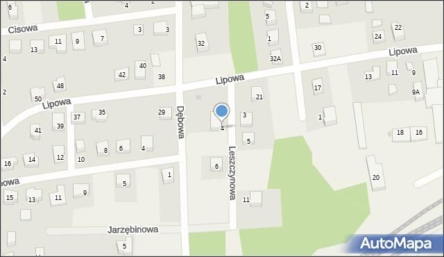 Luzino, Leszczynowa, 4, mapa Luzino