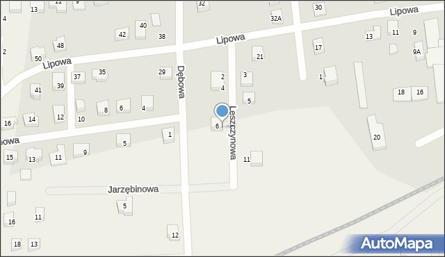 Luzino, Leszczynowa, 8, mapa Luzino