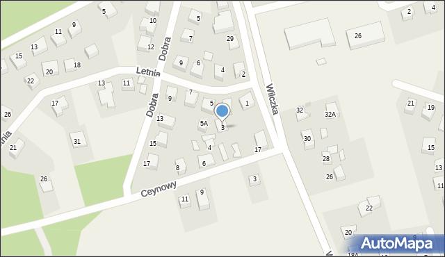 Luzino, Letnia, 3, mapa Luzino