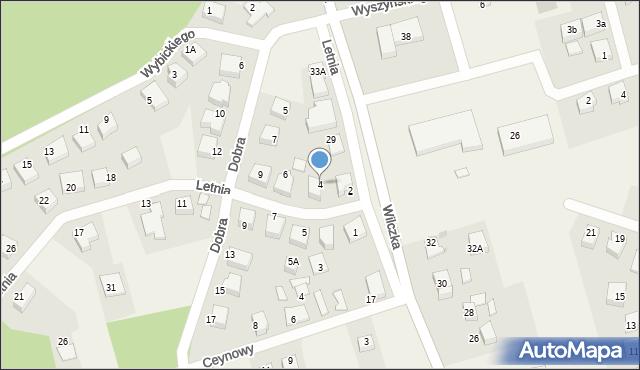 Luzino, Letnia, 4, mapa Luzino