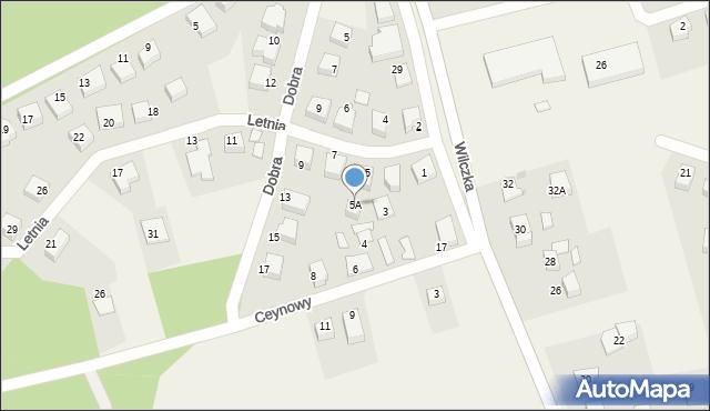 Luzino, Letnia, 5A, mapa Luzino