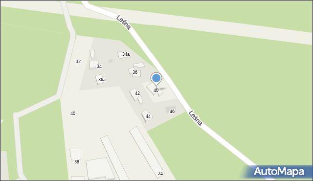 Mała Nieszawka, Leśna, 40, mapa Mała Nieszawka