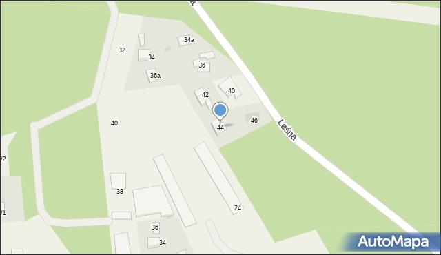 Mała Nieszawka, Leśna, 44, mapa Mała Nieszawka