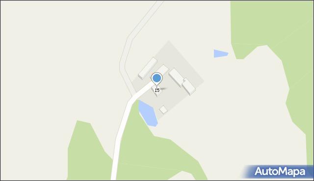 Milwino, Leśna, 15, mapa Milwino
