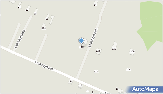 Poręba, Leszczynowa, 14C, mapa Poręba