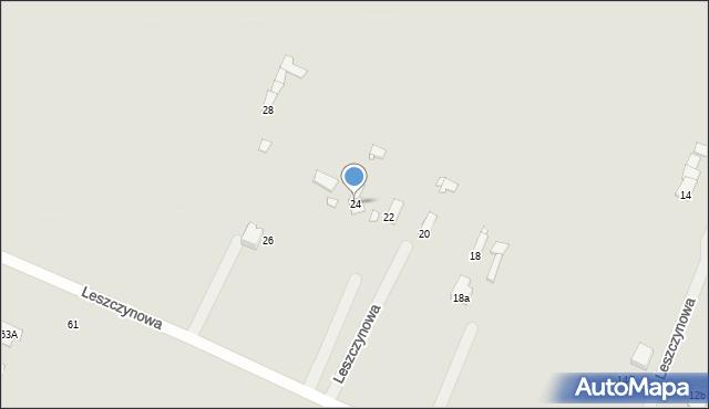 Poręba, Leszczynowa, 24, mapa Poręba