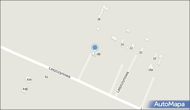 Poręba, Leszczynowa, 48, mapa Poręba