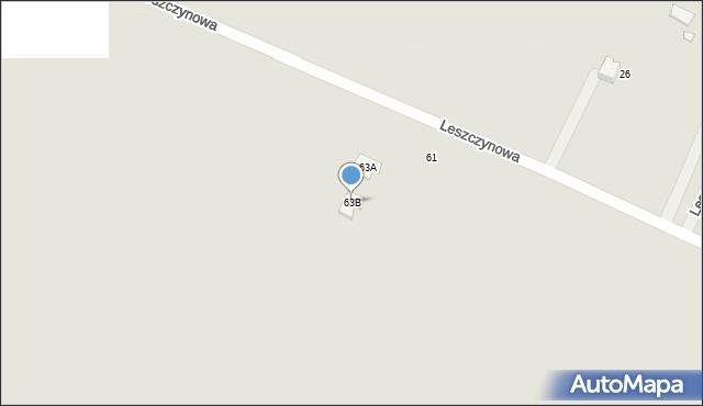 Poręba, Leszczynowa, 63B, mapa Poręba