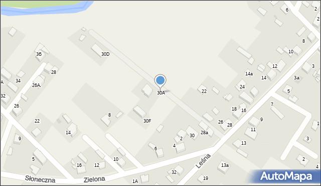 Potępa, Leśna, 30A, mapa Potępa