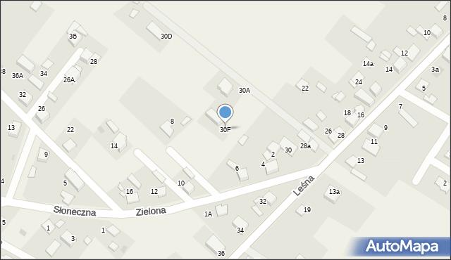 Potępa, Leśna, 30F, mapa Potępa