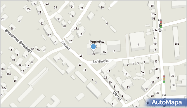 Przemyśl, Lelewela Joachima, 10, mapa Przemyśla