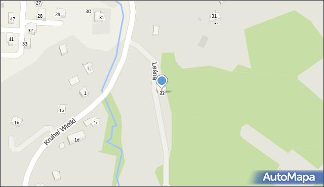 Przemyśl, Leśna, 33, mapa Przemyśla