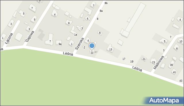 Robakowo, Leśna, 11, mapa Robakowo