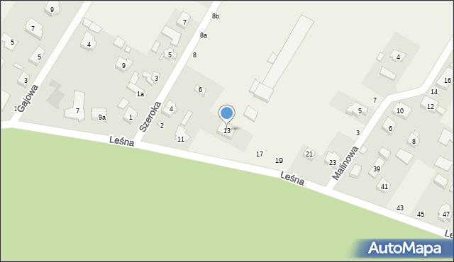 Robakowo, Leśna, 13, mapa Robakowo