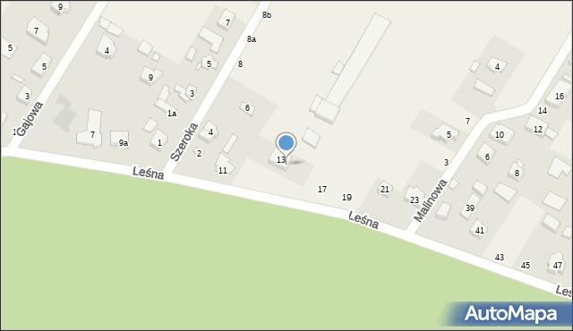 Robakowo, Leśna, 15, mapa Robakowo