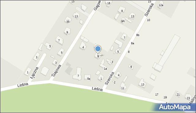Robakowo, Leśna, 9, mapa Robakowo
