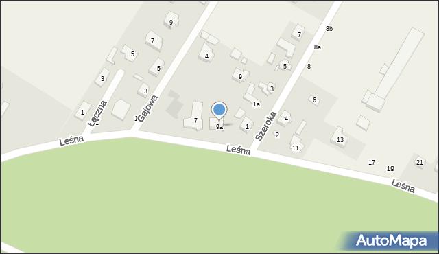 Robakowo, Leśna, 9a, mapa Robakowo