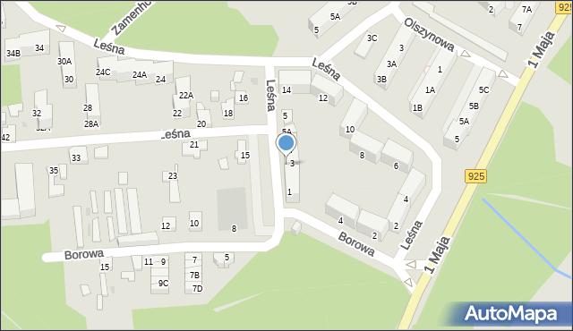 Ruda Śląska, Leśna, 3, mapa Rudy Śląskiej