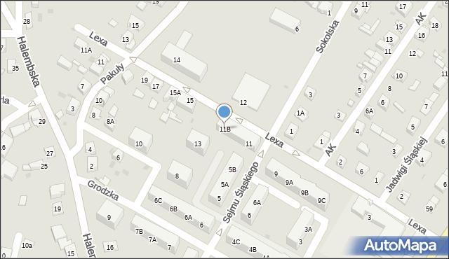 Ruda Śląska, Lexa Pawła, ks., 11B, mapa Rudy Śląskiej