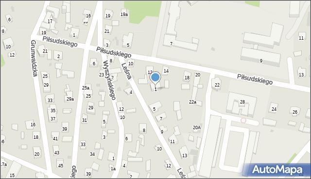 Rudnik nad Sanem, Leśna, 1, mapa Rudnik nad Sanem