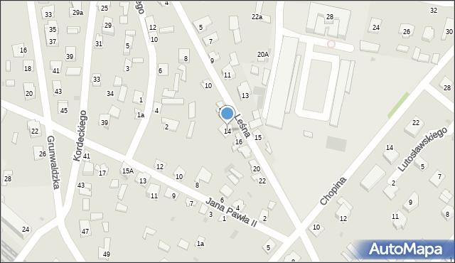 Rudnik nad Sanem, Leśna, 14, mapa Rudnik nad Sanem