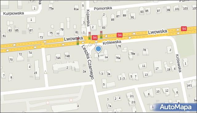 Rzeszów, Leszka Czarnego, 1, mapa Rzeszów