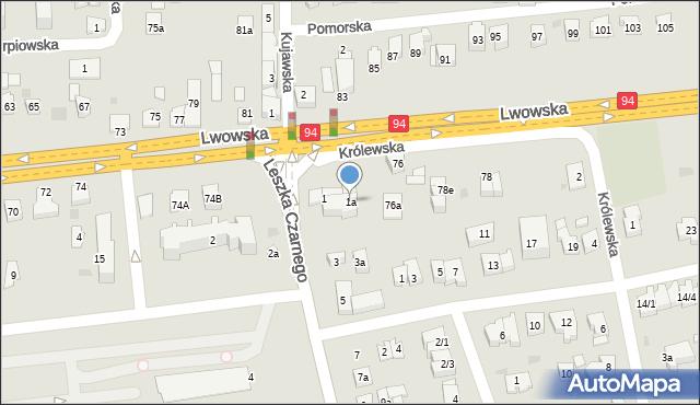 Rzeszów, Leszka Czarnego, 1a, mapa Rzeszów
