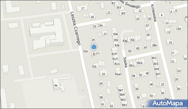 Rzeszów, Leszka Czarnego, 31, mapa Rzeszów