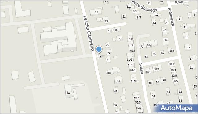 Rzeszów, Leszka Czarnego, 31a, mapa Rzeszów