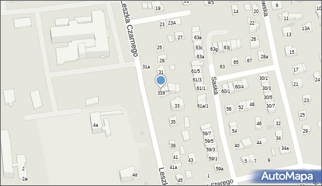 Rzeszów, Leszka Czarnego, 31b, mapa Rzeszów