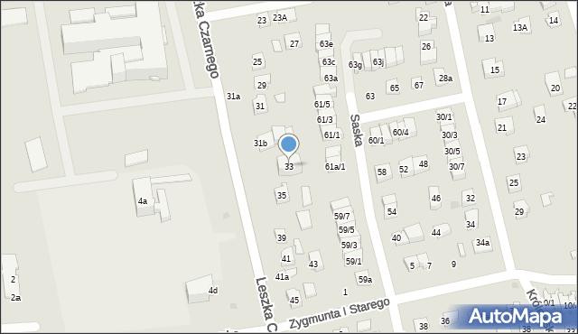Rzeszów, Leszka Czarnego, 33, mapa Rzeszów