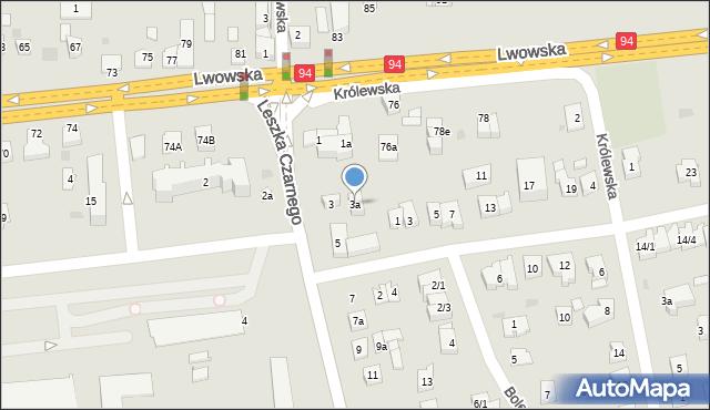Rzeszów, Leszka Czarnego, 3a, mapa Rzeszów
