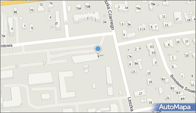 Rzeszów, Leszka Czarnego, 4, mapa Rzeszów