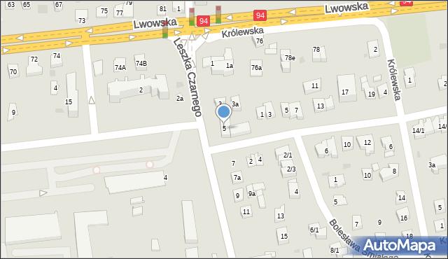 Rzeszów, Leszka Czarnego, 5, mapa Rzeszów