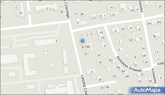 Rzeszów, Leszka Czarnego, 9, mapa Rzeszów