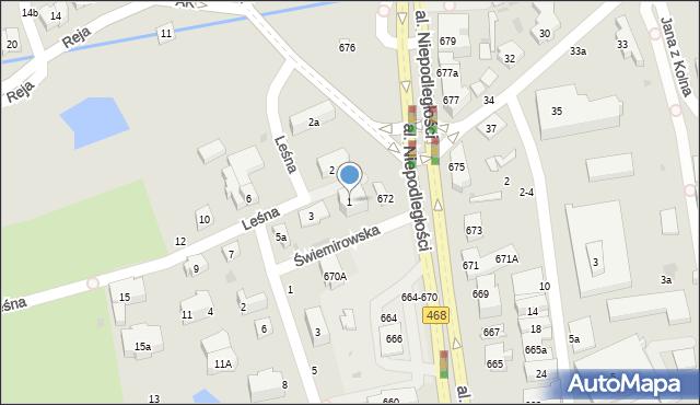 Sopot, Leśna, 1, mapa Sopotu