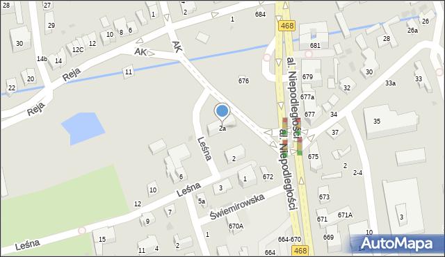 Sopot, Leśna, 2a, mapa Sopotu