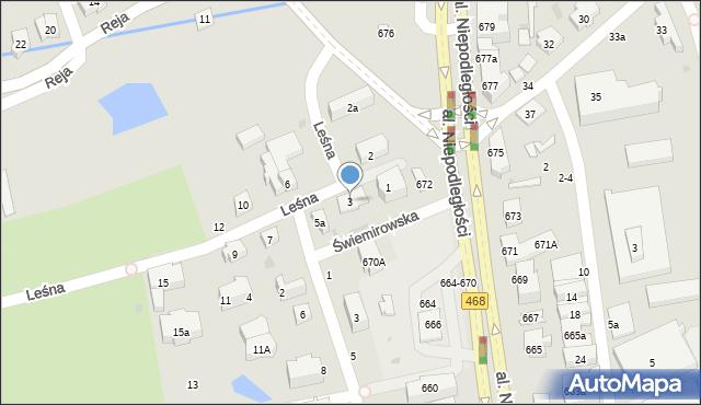Sopot, Leśna, 3, mapa Sopotu